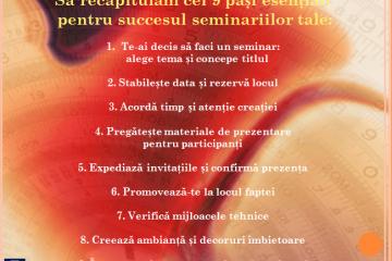 Organizarea unui seminar de succes